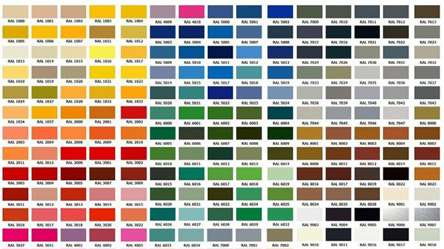 Bảng màu sơn công nghiệp