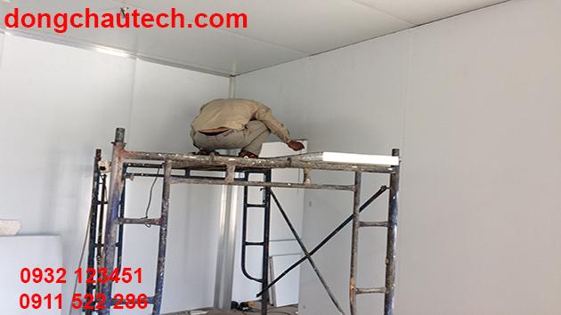 Thi công trần vách panel phòng sạch
