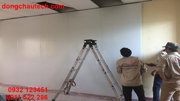 Thi công phần vách panel phòng sạch